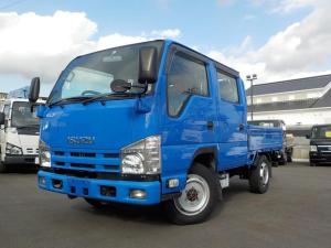 いすゞ エルフトラック Wキャブ フルフラットロー 4WD 切替付 1.1t積