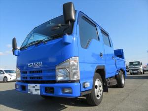 いすゞ エルフトラック  wキャブ平ボディ スムーサーシフト 800kgゲート取付け完了