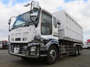 いすゞ ギガ  22tアームロール 箱付き 積載9400kg 28.6立方メートル 新明和社製  1デフ