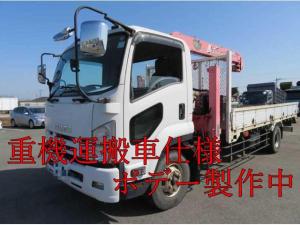 いすゞ フォワード  増t4段クレーン付重機運搬車 ラジコン付 積載4750kg