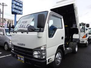 いすゞ エルフトラック 2t 全低床強化強化ダンプ 荷台コボレーン付 オートマ