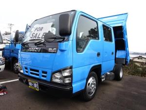 いすゞ エルフトラック 2t Wキャブ 全低床強化ダンプ 5速マニュアル エアバック
