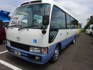 トヨタ コースター 福祉車両 24人乗り 電動リフト付 車椅子固定2基 自動扉