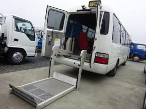 トヨタ コースター  福祉車両 リフト付き 車イス2台固定可 オートステップ 自動扉 20人乗り 5速マニュアル