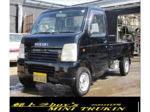 スズキ キャリイトラック KCエアコン・パワステ 4WD AC PS F5 色替え黒