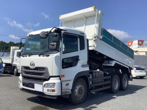 UDトラックス クオン  ダンプ 積載8.9t 新明和製ボディ 長さ5.1 幅2.2 自動シート付 6速マニュアル ターボ