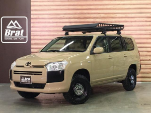 トヨタ プロボックス DXコンフォート NewPaint/クイックサンド リフトUP ヴィンテージ14インチホイール グリップマックスマッドレイジM/T ルーフラック 新品シートカバー 4WD