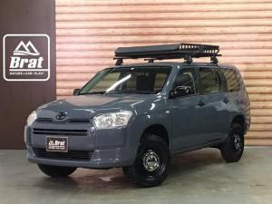 トヨタ プロボックス GL NewPaint/ツイードグレーヴィンテージ14インチホイール グリップマックスマッドレイジM/Tルーフラック2インチリフトUP SDナビ ワンセグTV 4WD ETC Bluetooth 電格ミラー