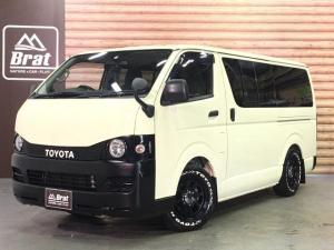 トヨタ ハイエースバン ロングDX 4WD 丸目換装カスタム 新品クッスンホイールズデイトナ16AW 新品トーヨーH20 ローダウン1.5インチ LEDテール 純正仕様ドアミラー インテリアパネル ブラックトリム リアスポイラー