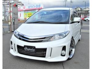 トヨタ エスティマ アエラス プレミアムエディション20AW車高調HDDナビTV