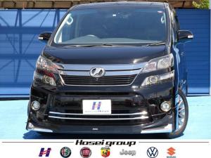 トヨタ ヴェルファイア 3.5Z ゴールデンアイズII 純正HDDナビ HID 両側パワースライドドア ハーフレザーシート 純正18AW ETC