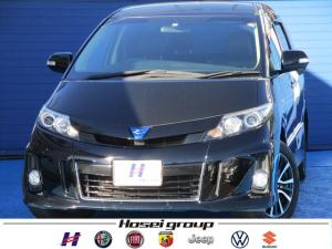 トヨタ エスティマハイブリッド アエラス レザーパッケージ 4WD ワンオーナー車 純正HDDナビ 両側パワースライドドア レザーシート ETC