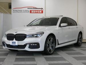 BMW 7シリーズ 740d xDrive Mスポーツ D車・アッパートリムオールレザーINT・コニャックレザーシート・全席シートH・FシートBレーター・純正ナビ&地デジTV&360度カメラ・LED-HL・ガラスサンルーフ・ミラーETC・Mエアロ&20AW