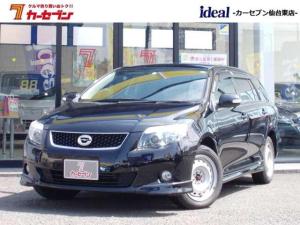 トヨタ カローラフィールダー X 202 純正ナビ 黒革シート バックモニター Bluetooth ホイール付冬タイヤ 純正AW フルセグ対応