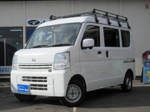 日産 NV100クリッパーバン DX GLエマージェンシーブレーキパッケージ 5AGS・ル-フキャリア・4WD・キ-レス・純正CD・電動格納ミラ-