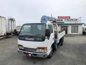 いすゞ エルフトラック タダノ3段クレーン フックイン ユニック車 5速マニュアル