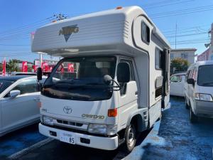 トヨタ ダイナトラック  キャンピングカー サイドオーニング シンク コンロ カセットトイレ シャワー ガス温水ボイラー 冷蔵庫 FF式ヒーター 4WD