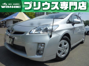 トヨタ プリウス S 純正SDナビ・地デジ・Bluetooth・フォグランプ・ETC・スマートキー