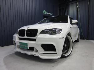BMW X6 M 4人乗 赤革 HAMMANエアロ・スポイラー 可変マフラー