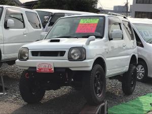 スズキ ジムニー ワイルドウインド 4WD ターボ リフトUP 社外バンパー 革シート マットタイヤ フジツボマフラー