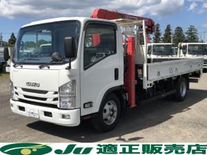いすゞ エルフトラック 超ロング セルフハイジャッキ 3段ク ラジコン 3.55t