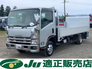 いすゞ エルフトラック  平ボディ 超ロング 4WD  パワーゲート付き 積載量3,000kg