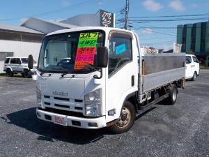 いすゞ エルフトラック ロングフルフラットロー 4WD 新明和昇降リフト