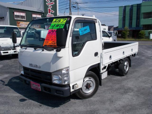 いすゞ エルフトラック  4WD マニュアル 1.5t平ボディー 木製荷台 作業灯 ナビ DVD キーレス