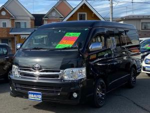 トヨタ ハイエースバン ロングスーパーGL 4WD ワイドボディ ミドルルーフ Wエアコン リアヒーター シートカバー ナビ・TV Bluetooth フルセグ バックカメラ ETC 社外アルミホイール