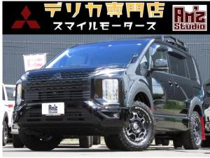 三菱 デリカD:5 G パワーパッケージ 4WD AmzStudio BK-ED キャンパー1.2UP仕様 ベットキット 新品AWセット レダクル&衝突軽減 アラビューモニター ステアリモコン 両側Pスライド 後Pゲート