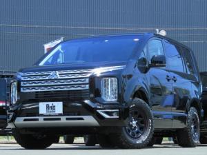 三菱 デリカD:5 G パワーパッケージ 4WD 未使用車 新品タイヤセット レダクル&衝突軽減 アラビューモニター ステアリモコン 両側Pスライド 後Pゲート