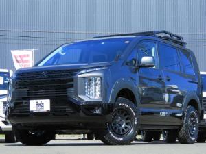 三菱 デリカD:5 G パワーパッケージ 4WD AmzStudio ブラックED キャンパー1.2UP仕様 新品AWセット ルーフラック Rラダー 純正サイドステップ レダクル&衝突軽減 ステリモ 両側Pスライド 後Pゲート