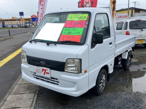 スバル サンバートラック 三方開ダンプ 4WD AW ホワイト