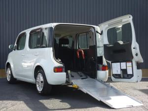 日産 キューブ 15S 福祉車両 チェアキャブ スロープタイプ 車椅子仕様 電動ウインチ サイドシートタイプ アルミスロープ 純正オーディオ ライトレベライザー 電格ミラー ベンチシート ECOモード