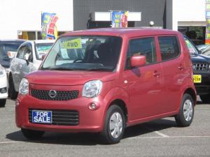 日産 モコ S FOUR 4WD タイミングチェーン式エンジン 社外ナビゲーションシステム 社外ETC運転席シートヒーター付き車