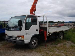 いすゞ エルフトラック ロング ユニッククレーン 3段