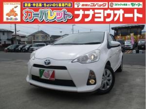トヨタ アクア S CVT スマートキー オーディオ付 ホワイト