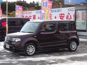 日産 キューブ 15X FOUR インディゴ+プラズマ ナビ TV ETC スマートキー フォグランプ 4WD