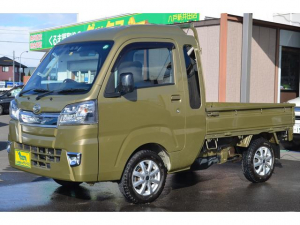ダイハツ ハイゼットトラック ジャンボSAIIIt 4WD 5MT 関東仕入 スマートアシストIIIt 145R13 6PR 新品キルティングシートカバー LEDライト&フォグ キーレス パワーウィンド 荷台ランプ  スーパーUV&IRカットガラス