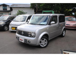i日産 キューブ 14S FOUR 4WD 3年間走行無制限保証 ETC