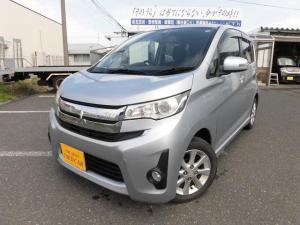 三菱 eKカスタム G 4WD ナビ・TV・Bモニター スマートキー シートヒーター アイドリングストップ エンジンスターター付