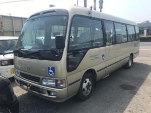 トヨタ コースター バス AC MT 修復歴無 電動スライドドア AW
