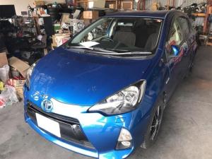 トヨタ アクア G スマートキー&プッシュスタート ETC付 アルミ ABS