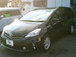 トヨタ プリウスアルファ S チューン ブラック SDナビ フルセグTV バックカメラ スマートキー ETC オートエアコン Bluetooth 社外アルミ 5人乗