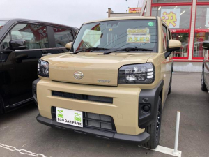 ダイハツ タフト X 4WD LED 衝突被害軽減システム ベージュ CVT AC バックカメラ 4名乗り オーディオ付