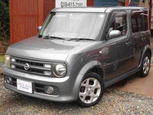 日産 キューブ 14RS FOUR 4WD スマートキー 革巻きステアリング ベンチシート 純正エアロ 15インチアルミ 車検整備付