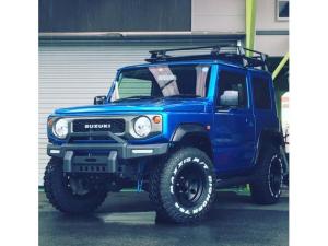 スズキ ジムニー XL MAXXIS M/T アメリカンレーシング 15インチ 1.5インチリフトアップ PROCOMPショック ラテラルF/R 社外オーバーフェンダー 新品パナソニックストラーダ 9インチ Sヒーター