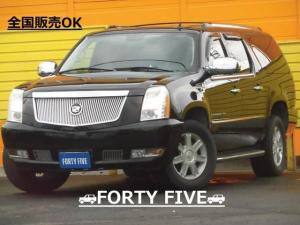キャデラックエスカレード ESV 4WD ロングボディ 本革シート 社外ナビTV