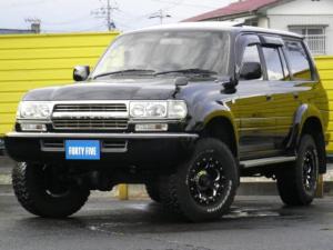 トヨタ ランドクルーザー80 VXリミテッド サンルーフ付き SUXONマフラー社外ライト リフトUPマーテルギア16インチAW 社外ヘットライトマーカー