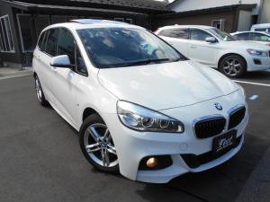 BMW 2シリーズ 218dグランツアラー Mスポーツ サンルーフ/純正ナビ/フルセグTV/バックカメラ/BT接続可/ディスチャージ/Mスポーツ純正エアロ/Mスポーツ純正アルミホイール/ディーゼル